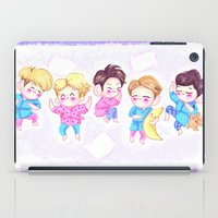 shinee iPad Cases featuring SHINee Sleepover by sophillustration