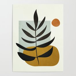 Soft Abstract Large Leaf Poster