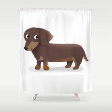 Longhaired Dachshund - Cute Dog Series Shower Curtain
