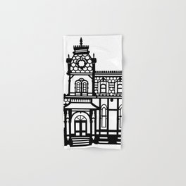 Old Victorian House - black & white Hand & Bath Towel