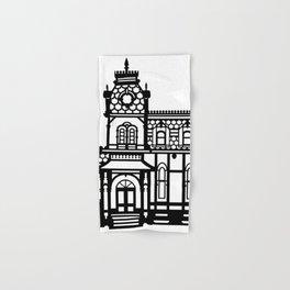 Old Victorian House - black & white Hand & Bath Towel