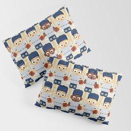 Baseball Pinstripes White and Blue - Super Cute Sports Stars Pillow Sham