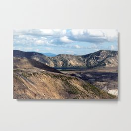 Lake and mountain view near Johnston's Ridge, either Coldwater Lake or Clearwater Lake Metal Print