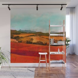 Landscape with hills Wall Mural