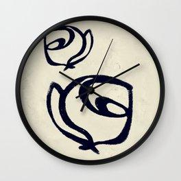 Flowers, Mother-Daughter Tan Wall Clock