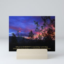 Serenity Prayer Spring Sunrise Mini Art Print