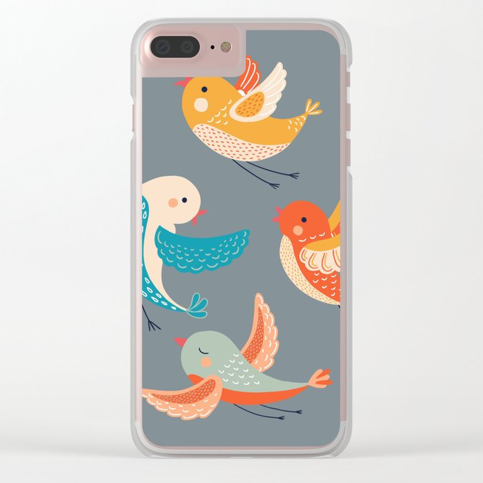 birds 4 Clear iPhone Case