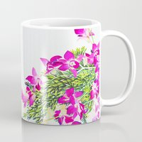 singapore Mugs featuring Singapore Orchids by marlene holdsworth