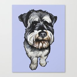 Barney the Miniature Schnauzer Canvas Print