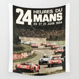 Le Mans 1964, Le Mans poster, Le Mans t shirt, Race poster, Wall Tapestry