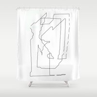 maps Shower Curtains featuring Maps  by short stories gallery
