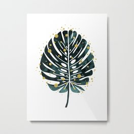 Holiday Monstera Metal Print