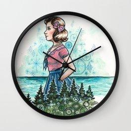 Mod Wilderness Wall Clock