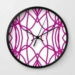 Pink Scribble Wall Clock