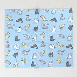Cats vs Laserpointers Throw Blanket