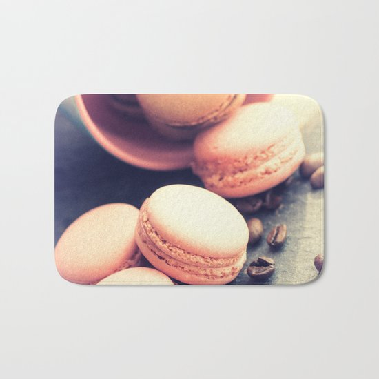 Sweet Cake with coffee beans Bath Mat