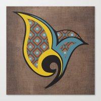 persian Canvas Prints featuring Persian Bird by Katayoon Photography