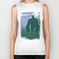 yeti Biker Tanks featuring Yeti by Megalomatthew