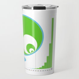 Exponential Growth Lily Pond - version 2 Travel Mug
