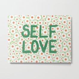 Self Love Daisy Print Metal Print
