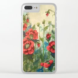 SK's Field of Poppies Clear iPhone Case