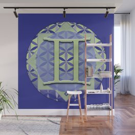 GEMINI Flower of Life Astrology Design Wall Mural