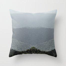 Mountain Sfumato Throw Pillow