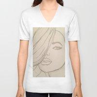 jojo V-neck T-shirts featuring JoJo by Art By JuJu