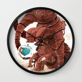Space Brontosaurus  Wall Clock