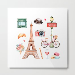 Welcome To Paris Metal Print