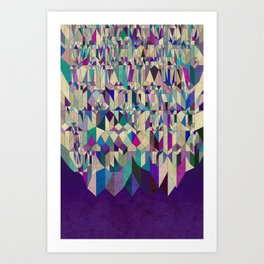 Purple Town Art Print
