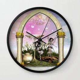 Cute fairy Wall Clock