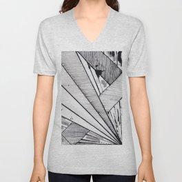 Diagonal Unisex V-Neck