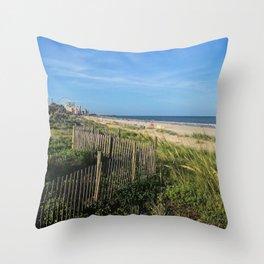 Myrtle Beach Boardwalk Throw Pillow