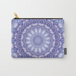 Light Blue, Lavender & and White Mandala 02 Carry-All Pouch
