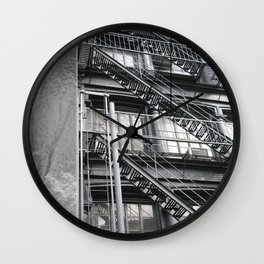 Americana - Fire Escape - Manhatten - NYC Wall Clock