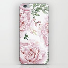 Pretty Pink Roses Floral Garden iPhone Skin
