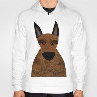 german shepherd Hoodies featuring Dog - German Shepherd 2 by Verene Krydsby