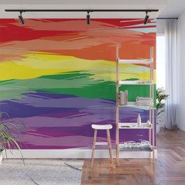 Abstract Rainbow Wall Mural