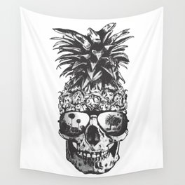 Pineapple Skull Head Wall Tapestry