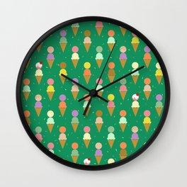 Ice Cream Scoop Green Robayre Wall Clock