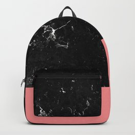 Coral Meets Black Marble #1 #decor #art #society6 Backpack