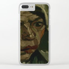 Head of a Woman Clear iPhone Case
