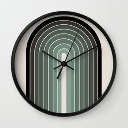 Gradient Arch - Green Tones Wall Clock