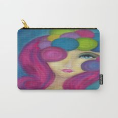 Blue Face Girl w/o Quote Carry-All Pouch