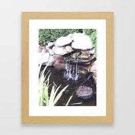 Stone Waterfall Framed Art Print