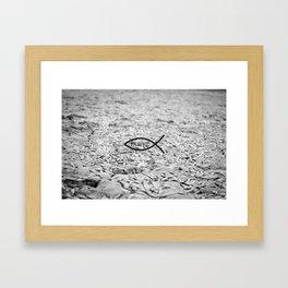 Fish symbol of Christ Framed Art Print