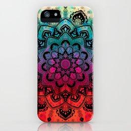 Gradual mandala iPhone Case