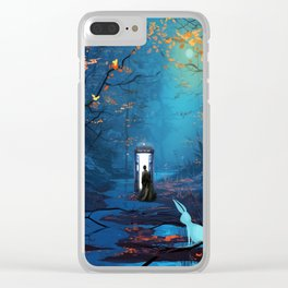 Tardis Lost In The Forest Clear iPhone Case