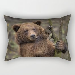 Brown Bear All Paws And Claws Rectangular Pillow